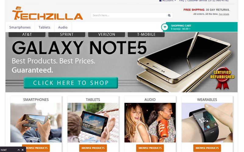 Techzilla.com conveys exactly what it does at first glance