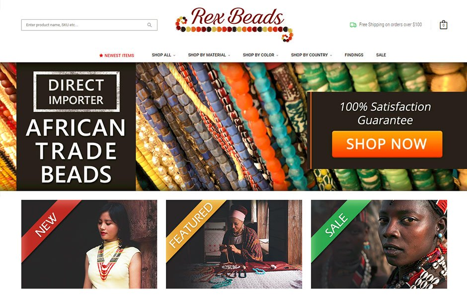 RexBeads.com BigCommerce Moved from Xcart