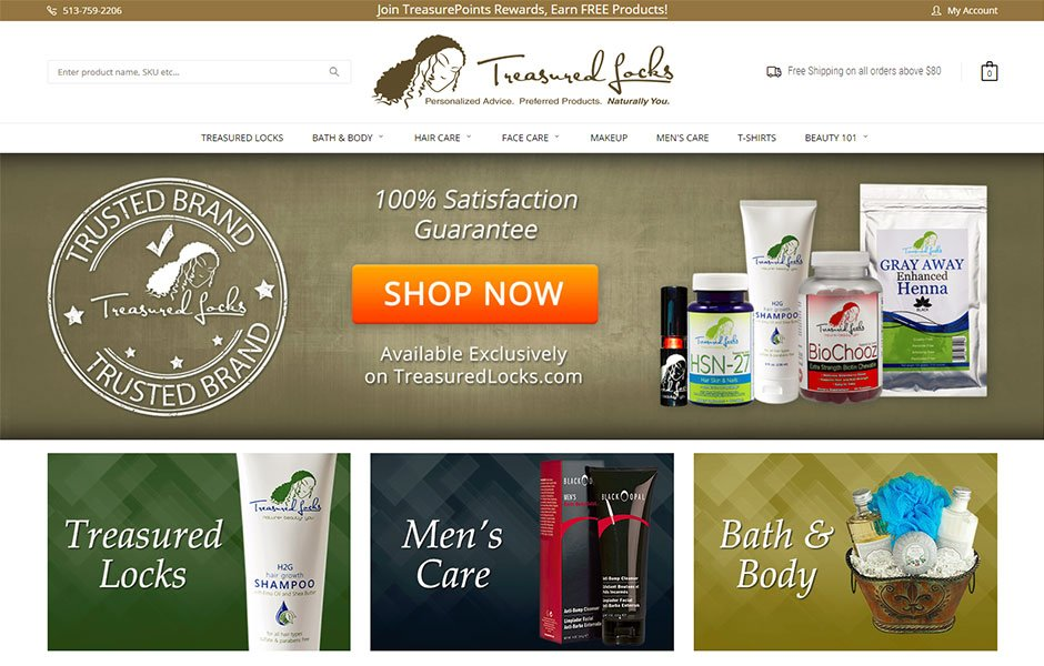 Treasured Locks BigCommerce Site Redesign