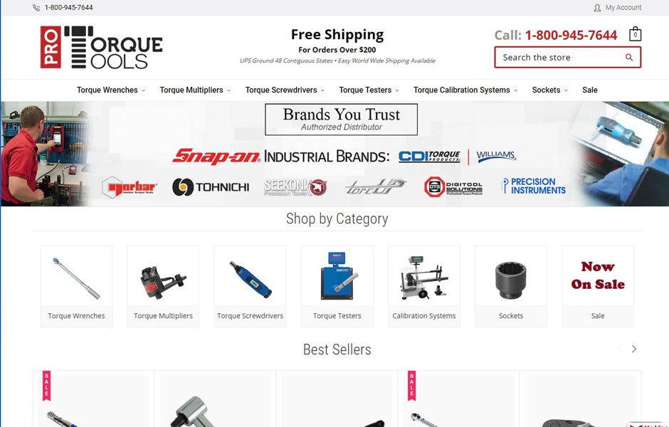 ProTorqueTools.com Redesign on BigCommerce Stencil