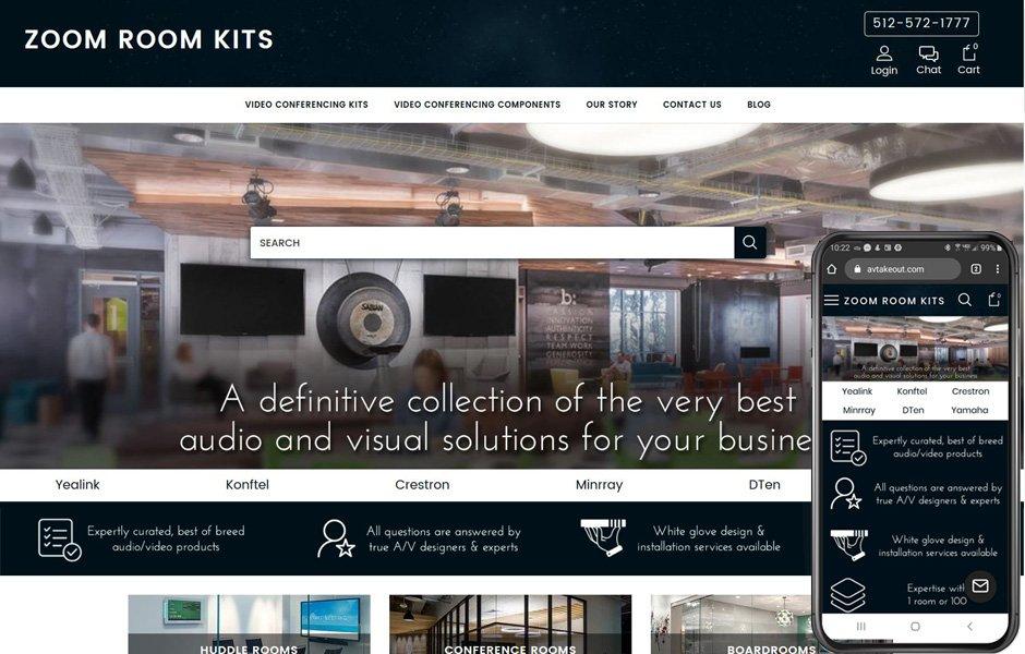 AV Takeout - BigCommerce new store build