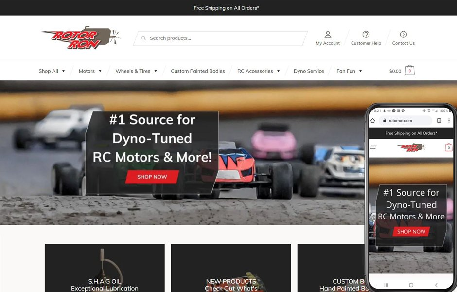 Rotor Ron | WordPress/WooCommerce Website Rebuild